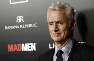 "Photo - Cast member John Slattery arrives at the premiere ""Mad Men"" in Los Angeles, Wednesday, March 14, 2012.  ""Mad Men"" season five premieres on AMC Sunday, March 25. (AP Photo/Matt Sayles) ORG XMIT: CAMW107"