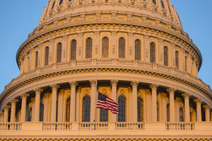 Photo - FILE - In this Sept. 16, 2013, file photo, the U.S. Capitol at sunset in Washington. Democrats and Republicans are fervently pursuing a batch of doomed bills in Congress because they target a coveted prize in the Nov. 4 elections: female voters. Wednesday, July 16's Senate vote on contraception legislation is the latest example of Democrats' win-by-losing strategy, which forces Republicans to vote on sensitive matters that might rile women this fall.  (AP Photo/J. Scott Applewhite, File)