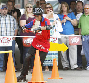 Photo - Deiontae Day competes in the 2012 Sonic Skate-Off in Oklahoma City. Photos by Steve Gooch, The Oklahoman