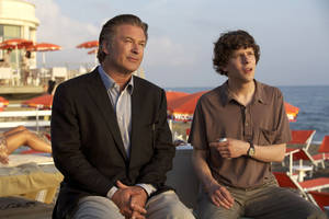 "Alec Baldwin and Jesse Eisenberg star in ""To Rome With Love."" <strong>Philippe Antonello</strong>"