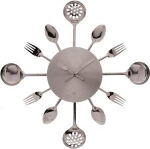Photo - It's fork o'clock somewhere: Go sleek and modern with chrome accessories that instantly liven up functional rooms like the kitchen.  Image courtesy of ModCloth.com