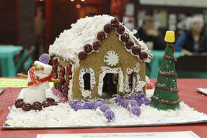 Photo - One of the entries in the fourth annual gingerbread house contest is seen at the Edmond Historical  Society and Museum.