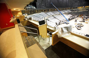 Photo - Terrace suites are located on the club level of both ends of the court and will have four to six swivel seats. Photo by Chris Landsberger, The Oklahoman
