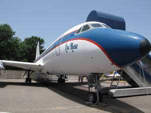 "Photo - FILE - This Tuesday, July 1, 2014, file photo shows the Lisa Marie, one of two jets once owned by late singer Elvis Presley, which is part of the Graceland tourist attraction in Memphis, Tenn. Priscilla Presley is asking fans of her late ex-husband Elvis Presley to ""please calm down"" after a report that the jets could be removed from Graceland. (AP Photo/Adrian Sainz, File)"