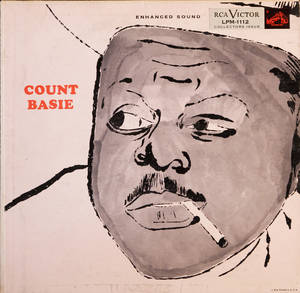 "Photo - This photo provided by Cranbrook Art Museum shows the cover of a 1955 Andy Warhol-designed album called ""Count Basie."" The record will be among those on display starting Saturday, June 21, 2014, at an exhibition of Warhol's album covers at the museum in Bloomfield Hills, Mich.  (AP Photo/Andy Warhol Foundation for the Visual Arts/Sony Music Entertainment) NO SALES"