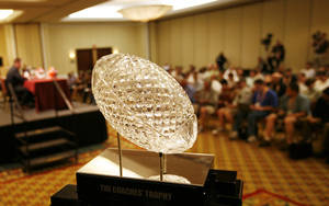 photo - OU hopes to play for this trophy in January. AP photo