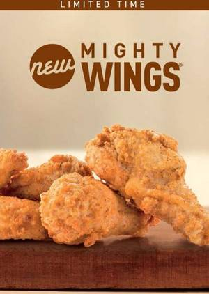 "Photo - This undated product image provided by McDonald's shows the restaurant's new ""Mighty Wings""offering on the store's menu. The world's biggest hamburger chain is set to expand its test of chicken wings to Chicago this week, after a successful run in Atlanta last year. (AP photo/McDonald's)"