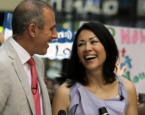 "Photo -   FILE - In this July 22, 2011 file photo, NBC ""Today"" television program co-hosts Matt Lauer and Ann Curry appear during a segment of the show in New York. A source with knowledge of the show who spoke on condition of anonymity because the source was not authorized to speak on the matter said Wednesday, June 20, 2012 that NBC is discussing a plan to ease Curry out of the co-hosting role. The New York Times first reported these discussions on Wednesday. (AP Photo/Richard Drew, File)"