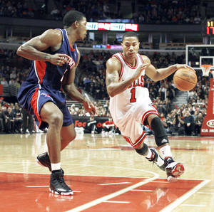 photo - Chicago's Derrick Rose is part of a team once thought to be the future of the Eastern Conference. AP PHOTO