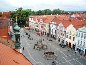 Photo -   The well-preserved Czech town of Trebon revolves around its charming main square.   (photo credit: Honza Vihan)