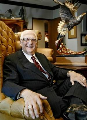 Photo - Robert A.  Funk is chairman of the board, chief executive officer (CEO) and founder of  Express  Services, Inc., at the  Express office headquarters on Thursday, Feb. 28, 2008, in Oklahoma City, Okla. BY CHRIS LANDSBERGER