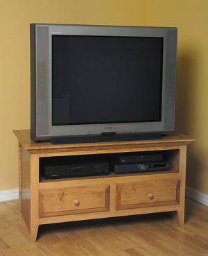 Photo - This television stand has room for a large flat-panel set. Photo provided