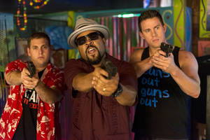 "Photo - This image released by Sony Pictures shows Jonah Hill, from left, Ice Cube, and Channing Tatum in Columbia Pictures' ""22 Jump Street."" (AP Photo/Sony Pictures, Glen Wilson)"