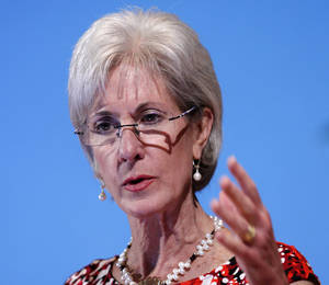 "photo - FILE - In this May 15, 2012 file photo, Health and Human Services Secretary Kathleen Sebelius speaks in Bethesda, Md. Facing a wave of lawsuits over what government can tell religious groups to do, the Obama administration on Friday proposed a compromise for faith-based nonprofits that object to covering birth control in their employee health plans. Sebelius said in a statement that the compromise would provide ""women across the nation with coverage of recommended preventive care at no cost, while respecting religious concerns."" (AP Photo/Jose Luis Magana, File)"