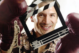 "Photo - KRT ENTERTAINMENT STORY SLUGGED: BOOMBOOM KRT PHOTOGRAPH BY RAUL RUBIERA/MIAMI HERALD (SOUTH FLORIDA SUN-SENTINEL OUT) (October 27) Ray ""Boom  Boom"" Mancini is moving to Miami, Florida, to open a film production company called Boom Boom Productions. (cdm) 2004"