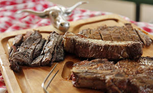 photo - Grilled steaks from Holder Brothers Beef, in Oklahoma City, Friday, May 25, 2012.  Photo by Nate Billings, The Oklahoman