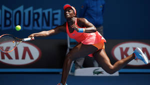Photo - Sloane Stephens of the U.S. makes a forehand return to Victoria Azarenka of Belarus during their fourth round match at the Australian Open tennis championship in Melbourne, Australia, Monday, Jan. 20, 2014. (AP Photo/Aaron Favila)