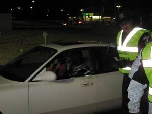 photo - Oklahoma County sheriff's deputies hold a traffic checkpoint at the intersection of W Hefner Road and N Pennsylvania Avenue Jan. 25. Photo by Matt Dinger