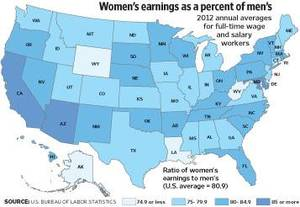 Photo - Women's Earnings in Oklahoma - 2012