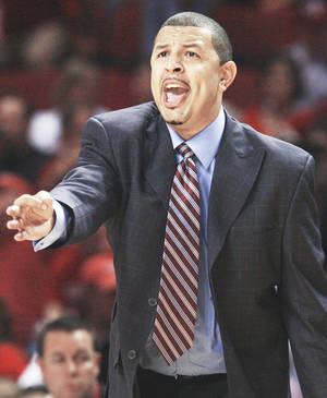 Photo - Oklahoma's Jeff Capel isn't looking forward to facing the school that gave him a chance at a head coaching job as a 27-year-old. PHOTO BY NATE BILLINGS, THE OKLAHOMAN