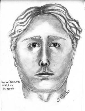 Photo - This sketch released Tuesday, April 30, 3013, by police in Norton Shores, Mich., shows a man wanted for questioning in the April 27 disappearance of Jessica Heeringa, 25, from a gas station where she was working as a clerk. Police say the man was driving a gray minivan and say he is white, age 30 to 40, about 6 feet tall, with light brown wavy hair. The description is from witnesses who saw the van parked near the station and driving away. (AP Photo/Norton Shores Police Department)