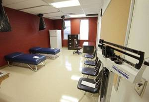 photo - The nurse station at the new Cesar Chavez Elementary School is more like a small health clinic at the southeast Oklahoma City facility set to open Aug. 1. Photo by David McDaniel, The Oklahoman <strong>David McDaniel</strong>