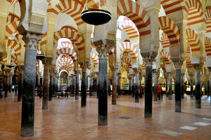 Although Cordoba's Mezquita is a vast space, its low ceilings and dense columns create an intimate place of worship.  Photos provided by Cameron Hewitt