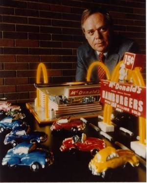 "Photo - This photo provided by McDonald's shows the former McDonald's CEO Fred L. Turner. Turner, who helped expand the fast-food chain's global footprint and spearheaded the creation of ""Hamburger University"" died Thursday, Jan. 8, 2013, after suffering complications from pneumonia, the company said. He was 80 years old. (AP Photo/McDonald's)"