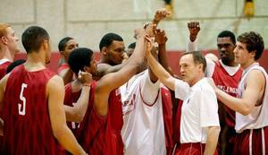 photo - New University of Oklahoma men&#039;s college basketball coach Lon Kruger puts his new team through a workout. PHOTO BY TY RUSSELL, Courtesy OU Sports Information &lt;strong&gt;TY RUSSELL - COURTESY OU SPORTS&lt;/strong&gt;