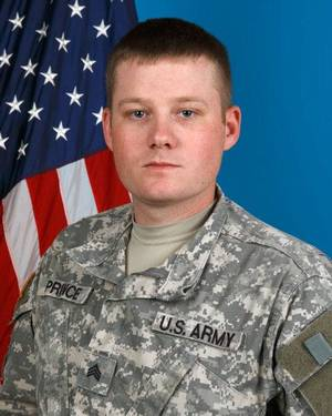 Photo - U.S. Army Sgt. Mycal L. Prince, 28, of Minco <strong>Sgt 1st Class Kendall James - Provided</strong>