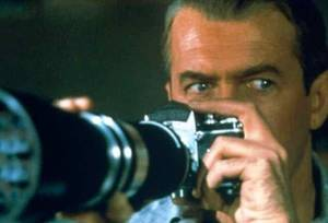 "Jimmy Stewart stars in Alfred Hitchcock's thriller ""Rear Window,"" which was nominated for four  Oscars. Paramount photo"