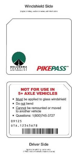 Photo - Noncommercial OTA Pikepass Stickers. Photo provided