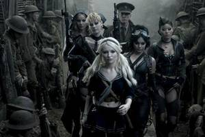 "Photo - From left, Abbie Cornish as Sweet Pea, Jena Malone as Rocket, Emily Browing as Babydoll, Scott Glenn as the Wise Man, Vanessa Hudgens as Blondie and Jamie Chung as Amber in ""Sucker Punch.""  Warner Bros. photo <strong>Clay Enos</strong>"