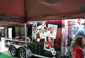 photo - Under the tent at the Two Docs tailgate at the Bedlam Tailgating Showdown. <strong>DAVE CATHEY - THE OKLAHOMAN</strong>