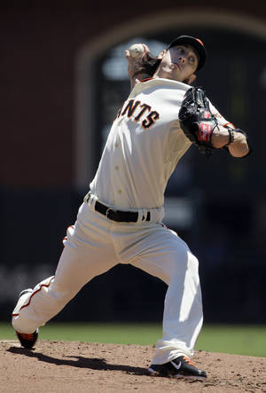 Photo -   San Francisco Giants pitcher Tim Lincecum delivers against the Los Angeles Dodgers during the second inning of a baseball game in San Francisco, Wednesday, June 27, 2012. (AP Photo/Jeff Chiu)