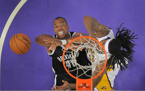 Photo - Brooklyn Nets center Jason Collins, left, battles for a rebound with Los Angeles Lakers' Jordan Hill during the first half of an NBA basketball game, Sunday, Feb. 23, 2014, in Los Angeles. (AP Photo/Mark J. Terrill)