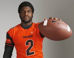Photo - The Oklahoman All State,  Deondre Clark, OKC Douglass, Monday, December 23, 2013.  Photo by Doug Hoke, The Oklahoman