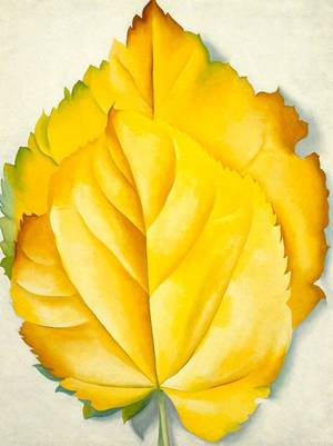 "Photo - Georgia O'Keeffe's ""2 Yellow Leaves (Yellow Leaves)"" is featured in the special exhibit ""American Moderns, 1910-1960: From O'Keeffe to Rockwell"" on view through Jan. 6 at the Oklahoma City Museum of Art. Image provided"