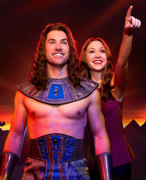 "Photo - Ace Young (Joseph) and Diana DeGarmo (The Narrator) head the cast of ""Joseph and the Amazing Technicolor Dreamcoat."" <cutline_credit_leadin>Photo by Daniel Brodie</cutline_credit_leadin> <strong></strong>"