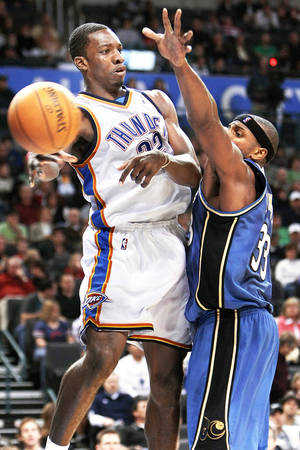 Photo - OKC's Jeff Green is struggling through a season-long slump that he can't seem to find a way out of.  PHOTO BY HUGH SCOTT, THE OKLAHOMAN