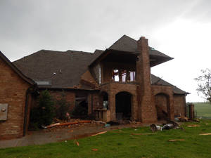 Photo - Homebuilder Travis Huffman's personal home in Newcastle was among those damaged May 20 by the tornado and storms that struck Moore and the southwest Oklahoma City metro area. Yet Huffman Construction and other builders will go on with the Southwest Showcase of Homes this Saturday through June 9. PHOTO PROVIDED BY TRAVIS HUFFMAN <strong></strong>