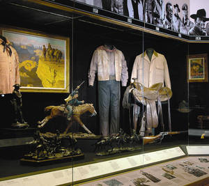 Photo - John Wayne's movies feature prominently in the Hall of Western Performers at the National Cowboy &  Western Heritage Museum. PHOTO PROVIDED BY DICKINSON RESEARCH CENTER AT NATIONAL COWBOY &  WESTERN HERITAGE MUSEUM. <strong> - PHOTO PROVIDED BY DICKINSON RESE</strong>