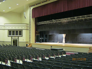 Photo - The renovated auditorium at Capitol Hill High  School is a completed MAPS for Kids project. Crews discovered decorative pieces when they began the renovation, and officials decided to use them in the new design. Photo Provided