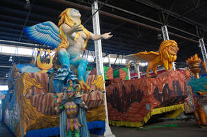 Photo - A tour of Mardi Gras World gives visitors a behind-the-scenes peek at Mardi Gras parade floats. PHOTO BY WESLEY K.H. TEO PROVIDED.   <strong></strong>