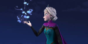 "Photo - This image released by Disney shows Elsa the Snow Queen, voiced by Idina Menzel, in a scene from the animated feature ""Frozen."" (AP Photo/Disney)"