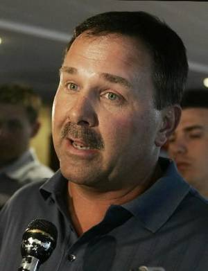 photo - University of Oklahoma offensive coordinator  Kevin  Wilson speaks in Norman, Okla., Tuesday, Sept. 23, 2008. File photo. 