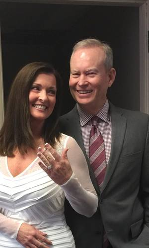 Photo -  Oklahoma City Mayor Mick Cornett, left, and his wife, Terri Walker, are shown. The couple wed Wednesday. Photo provided by the City of Oklahoma City  <strong></strong>