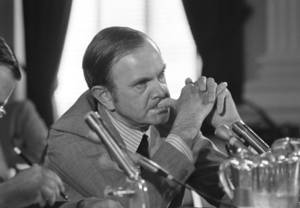 Photo - FILE - In this July 26, 1972, file photo, Ralph Wilson, owner of the Buffalo Bills football team, listens to a question as he appeared before the House Select Committee on Crime in Washington. Bills owner Wilson Jr. has died at the age of 95. NFL.com says team president Russ Brandon announced his death at the league's annual meeting in Orlando, Fla., Tuesday, March 25, 2014. (AP Photo/Charles Gorry, File)