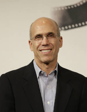 Photo - In this Tues., Nov. 13, 2012 file photo, Dreamworks Animation CEO Jeffrey Katzenberg poses for photographers at the 7th edition of the Rome International Film Festival in Rome.  Hal Needham, D.A. Pennebaker, George Stevens, Jr., and Jeffrey Katzenberg will accept their Oscar statuettes at the 4th annual Governors Awards from the Academy of Motion Picture Arts and Sciences' Board of Governors at a private ceremony Saturday, Dec. 1, 2012, at the Hollywood and Highland Center, in Los Angeles.  (AP Photo/Alessandra Tarantino, File)