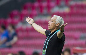 Photo - France's head coach Pierre Mankowski gestures during the Under-20 World Cup Group A soccer match between France and the U.S. in Istanbul, Turkey, Monday, June 24, 2013. (AP Photo/Gero Breloer)